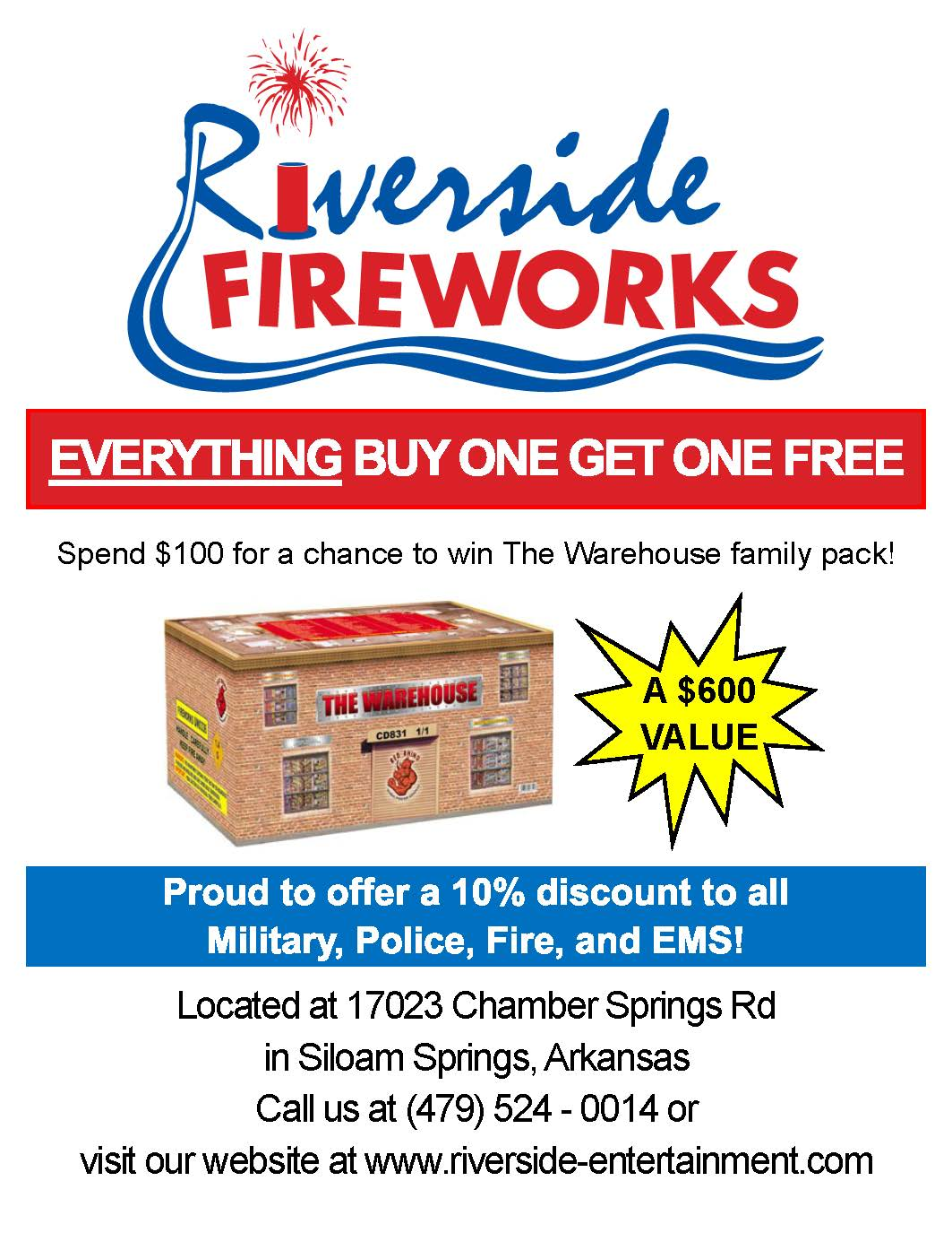 Fireworks Store Open Full Time